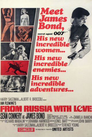 From Russia With Love (1964) Main Poster