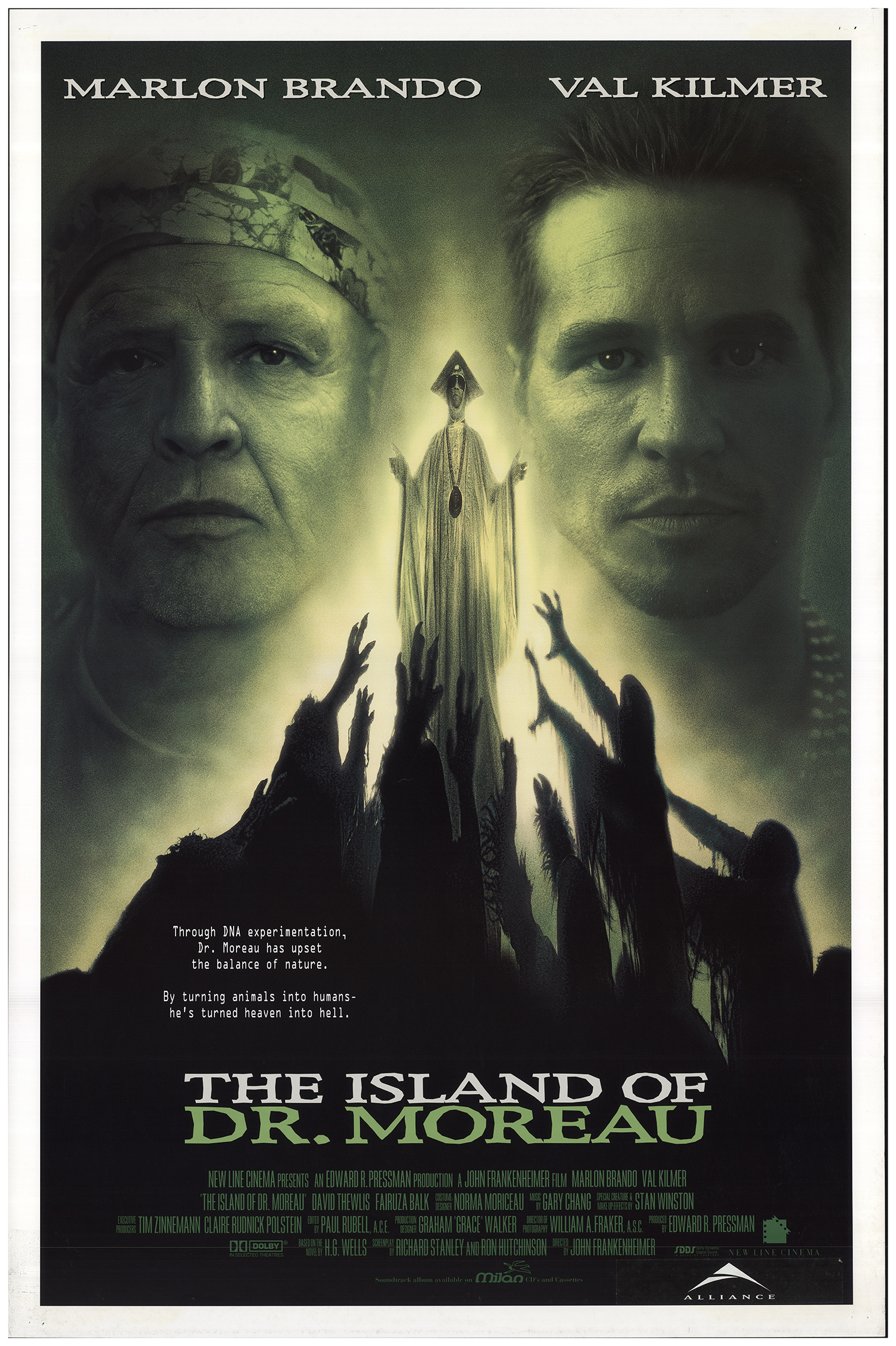 The Island Of Dr. Moreau (1996) Main Poster