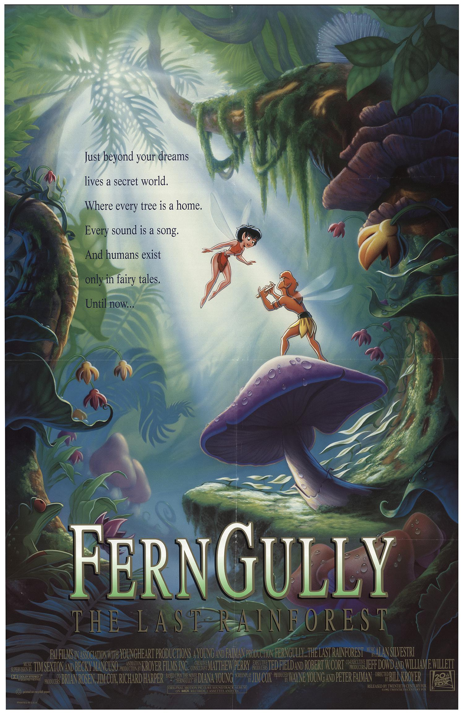 FernGully: The Last Rainforest (1992) Main Poster