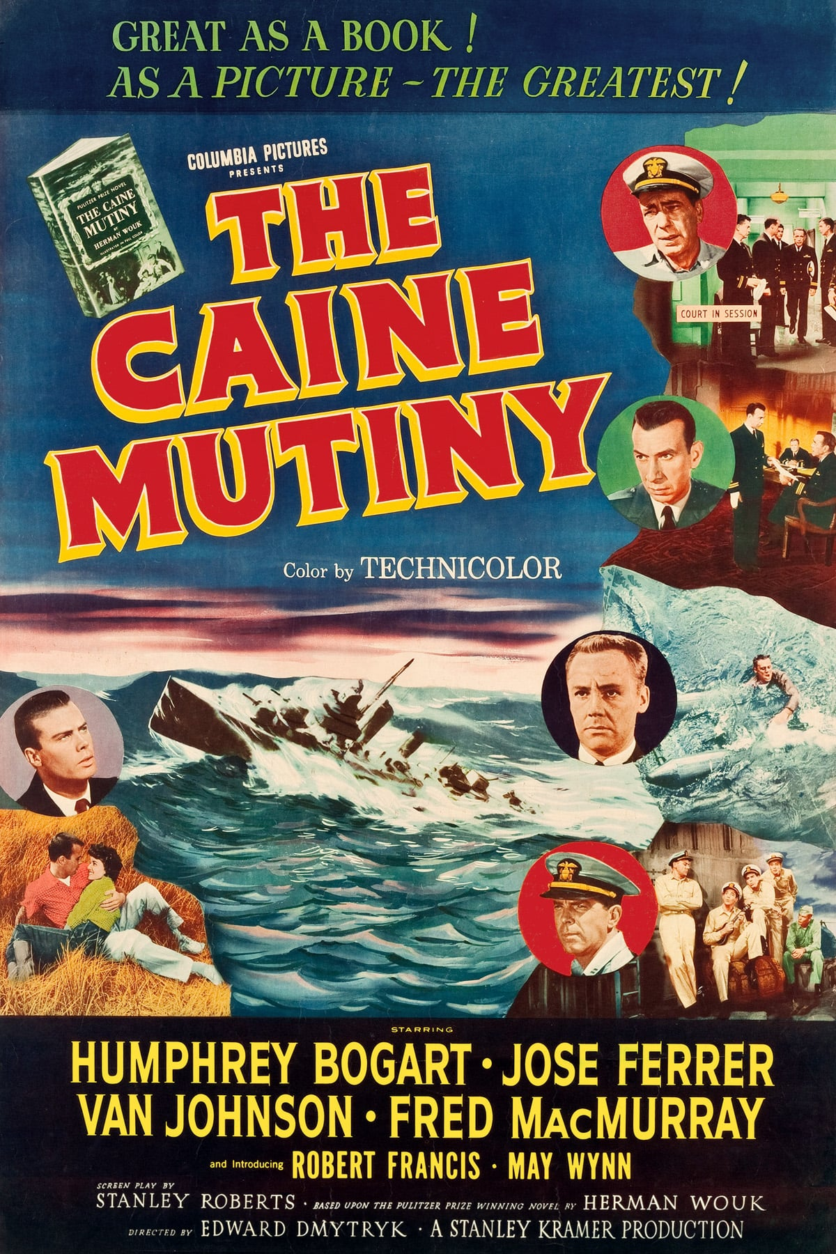 The Caine Mutiny (1954) Main Poster