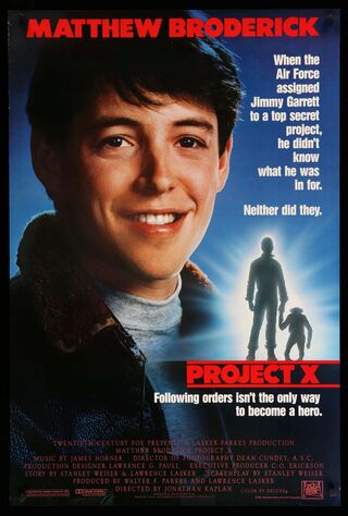 Project X (1987) Main Poster