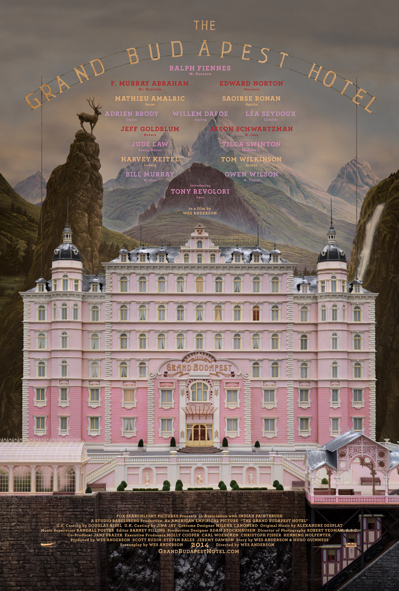 The Grand Budapest Hotel (2014) Main Poster