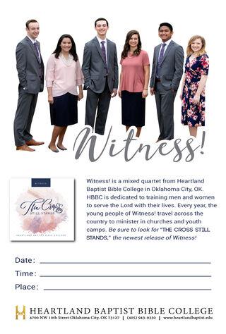 Witness (2019) Main Poster