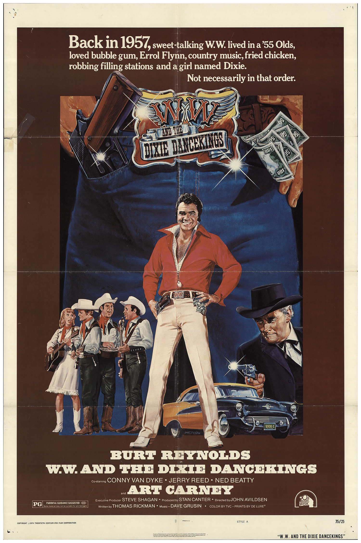 W.W. And The Dixie Dancekings (1975) Main Poster