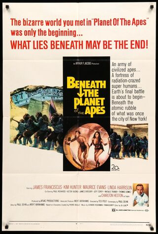 Beneath The Planet Of The Apes (1970) Main Poster