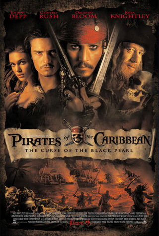 Pirates of the Caribbean: The Curse of the Black Pearl (2003) Main Poster
