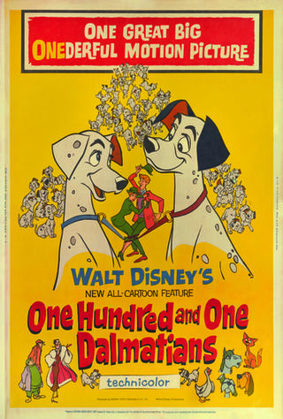 One Hundred And One Dalmatians (1961) Main Poster