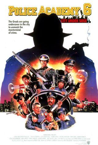 Police Academy 6: City Under Siege (1989) Main Poster