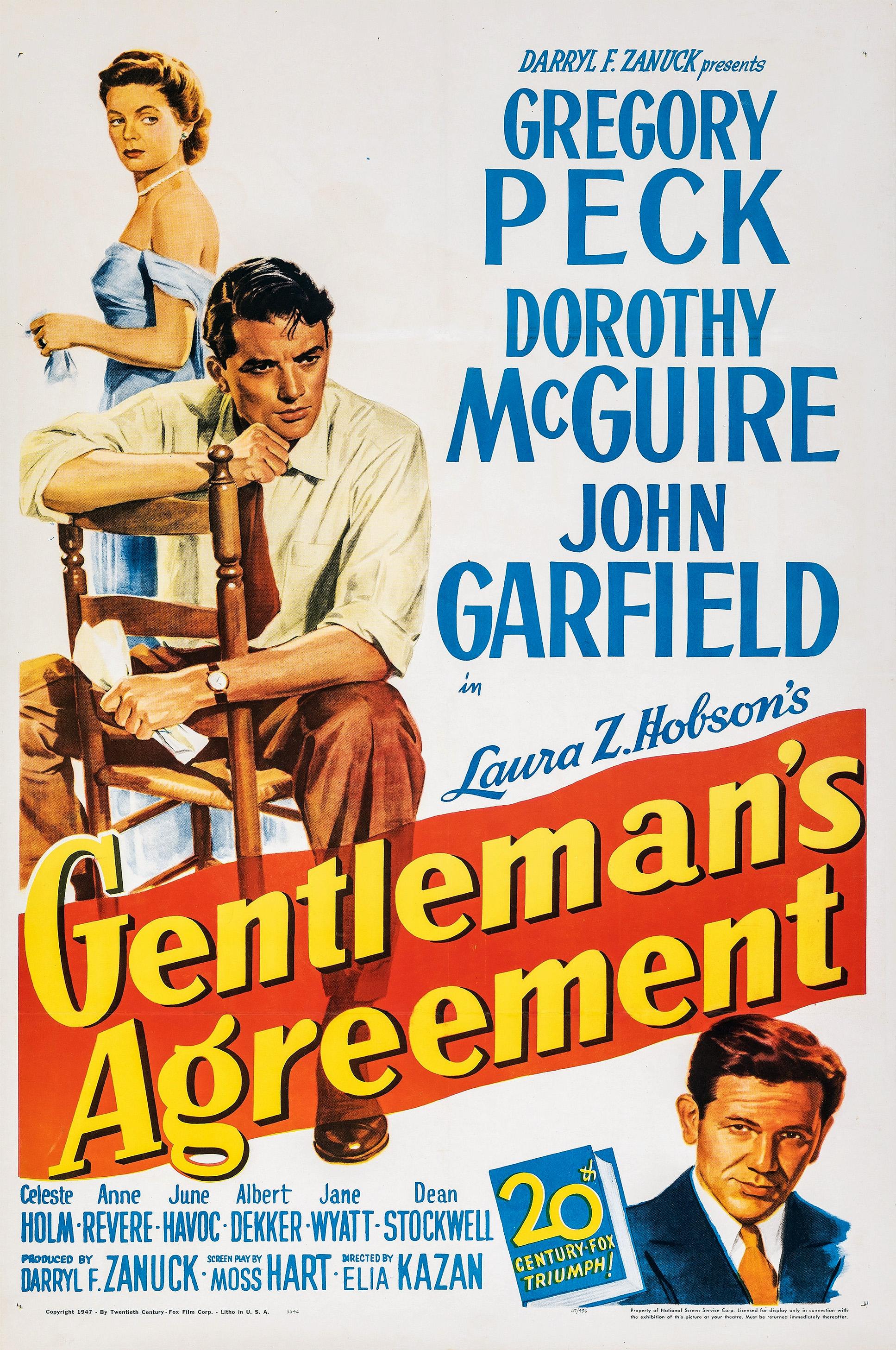 Gentleman's Agreement (1948) Poster #2