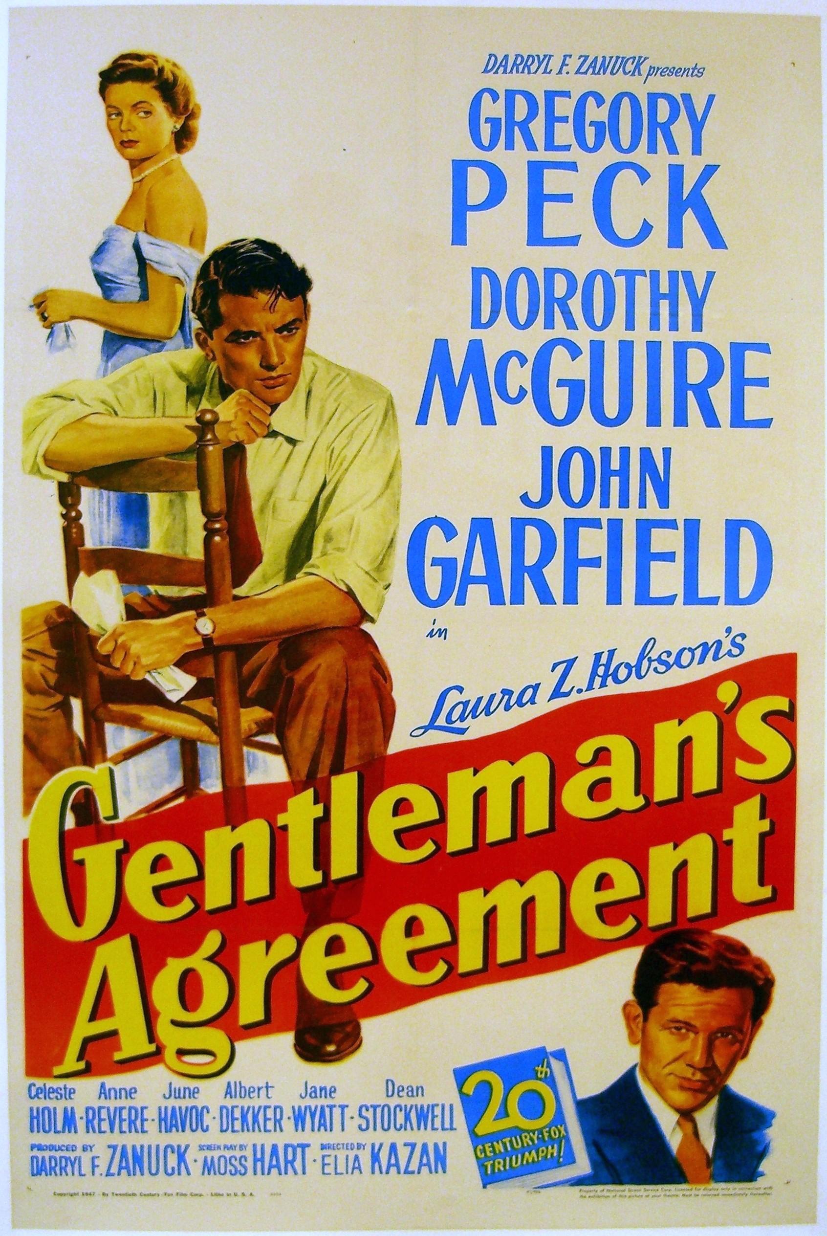 Gentleman's Agreement (1948) Poster #3