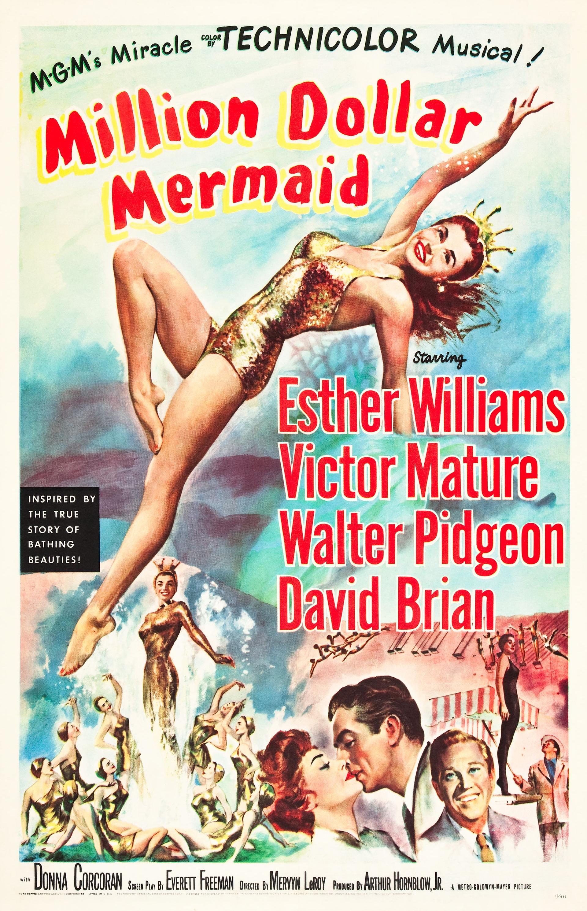 Million Dollar Mermaid (1953) Main Poster