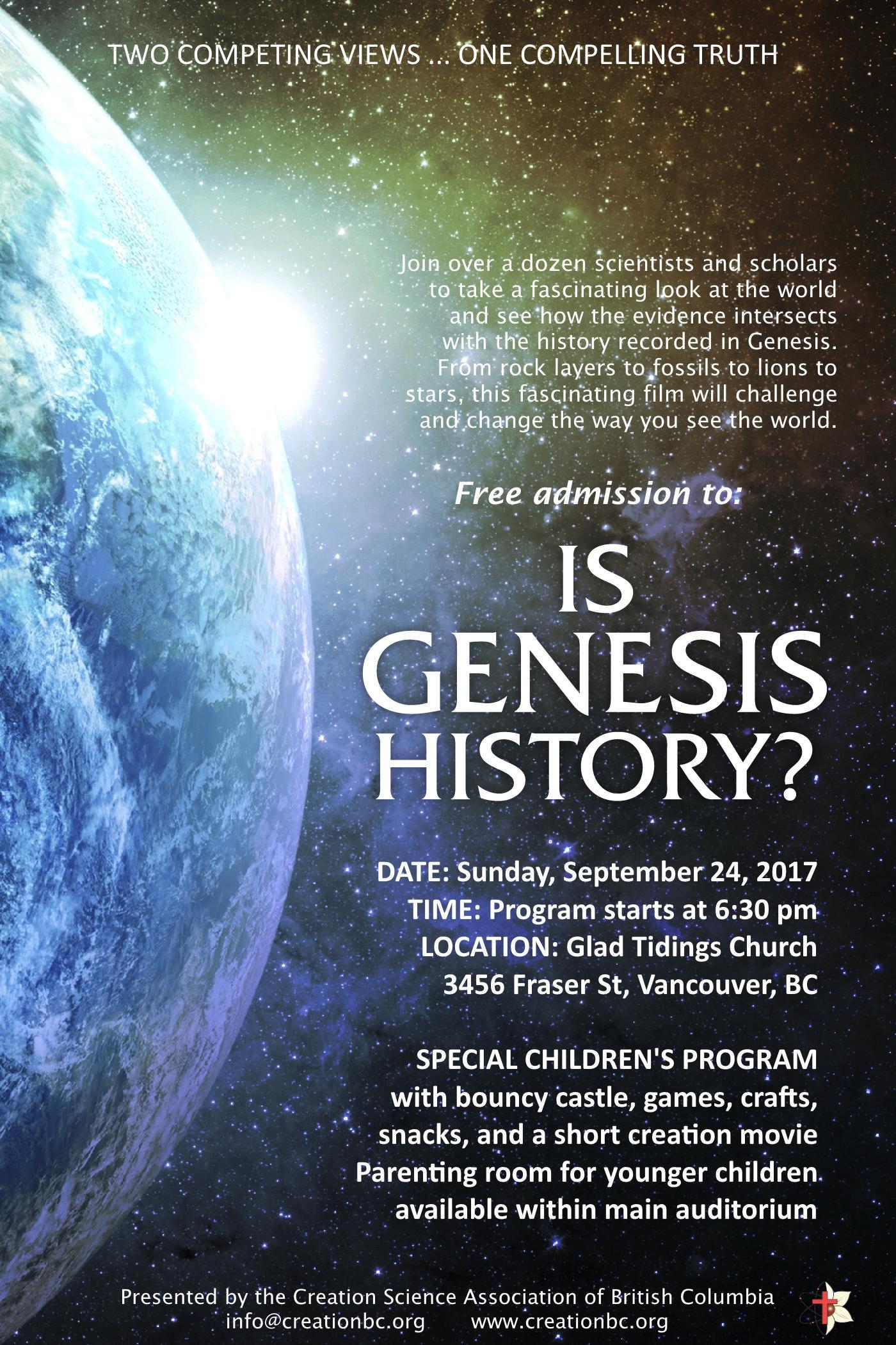 Is Genesis History? (2017) Main Poster