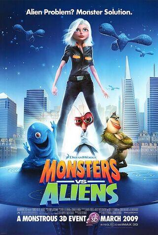 Monsters vs. Aliens (2009) Main Poster