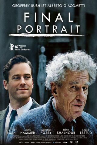 Final Portrait (2018) Main Poster
