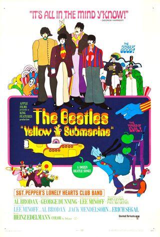 Yellow Submarine (1968) Main Poster