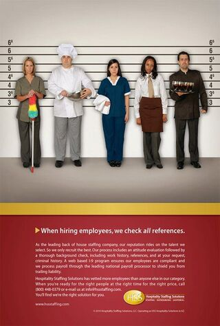 Hospitality Department (2013) Main Poster