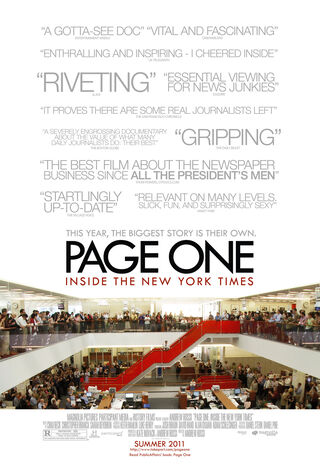 Page One: Inside The New York Times (2011) Main Poster