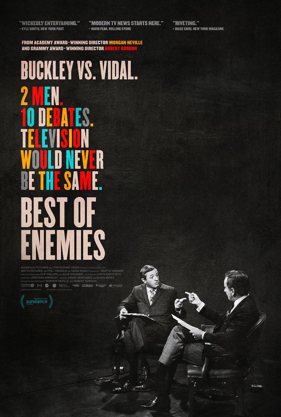 Best Of Enemies: Buckley Vs. Vidal (2015) Main Poster