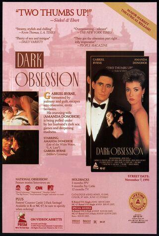 Dark Obsession (1991) Main Poster