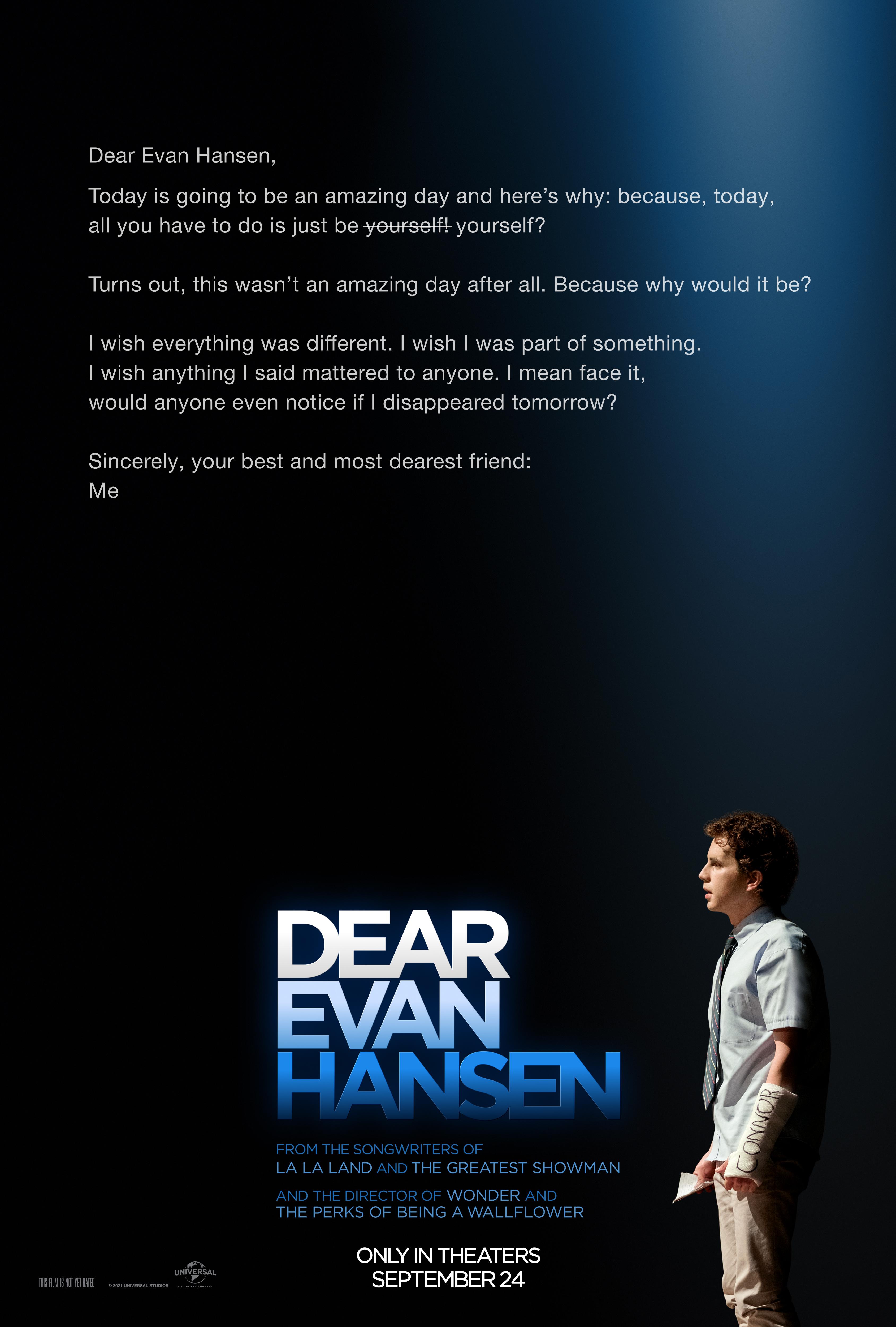 Dear Evan Hansen Main Poster