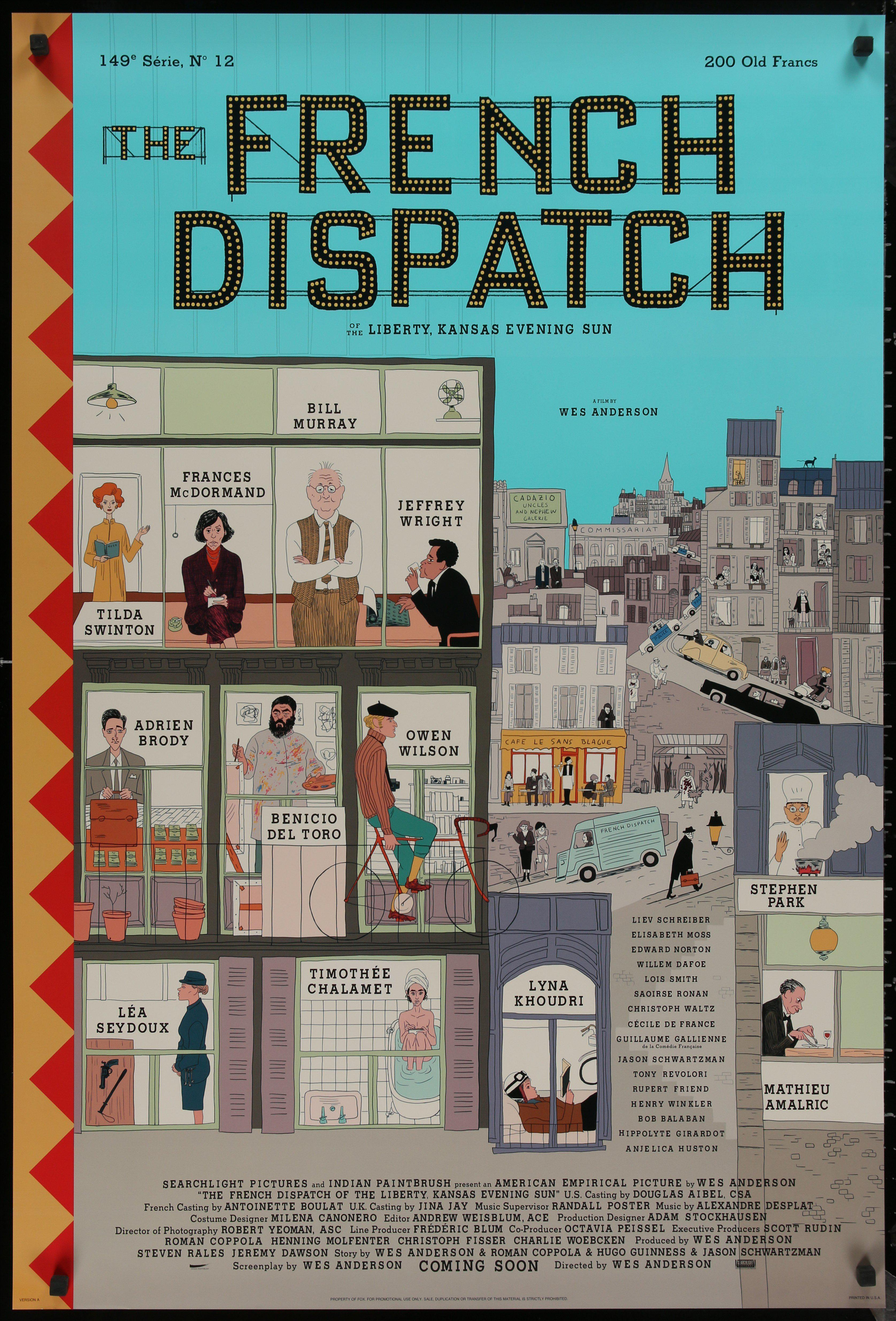 The French Dispatch (2021) Main Poster