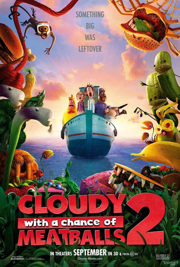 Cloudy with a Chance of Meatballs 2 Main Poster