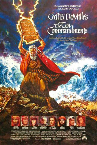 The Ten Commandments (1956) Main Poster