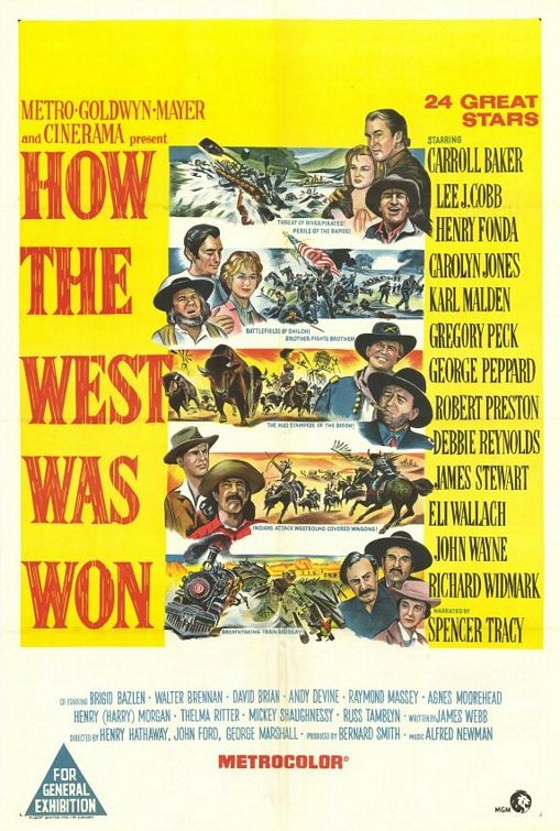 How The West Was Won (1963) Main Poster